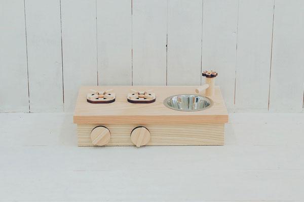 【完成品】 【発売記念限定5台特別価格】  オリジナルキッチン 木のおもちゃHANA 卓上ままごとキッチン