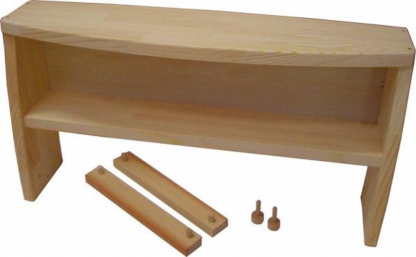 ままごと・キッチン 木遊舎 2段オプション (ひのきキッチンテーブル)
