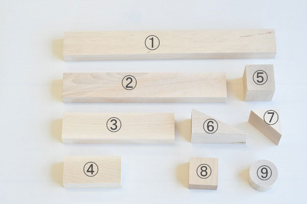 白木の積木 単品