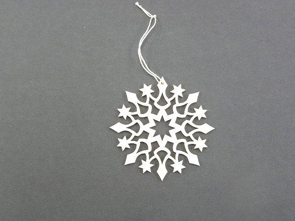 クリスマスオーナメント ヴァルトファブリック社(Waldfabrik) オーナメント・雪の結晶 タイプ2