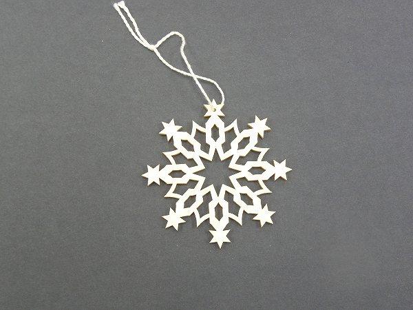 クリスマスオーナメント ヴァルトファブリック社(Waldfabrik) オーナメント・雪の結晶 タイプ1