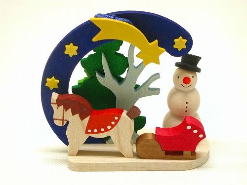 クリスマスオーナメント グラウプナー社(Graupner) オーナメント 雪だるま・ポニー