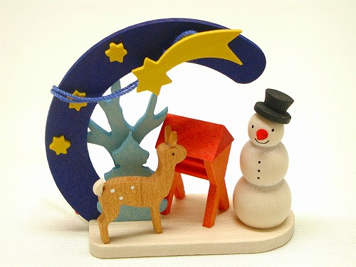 クリスマスオーナメント グラウプナー社(Graupner) オーナメント 雪だるま・しか