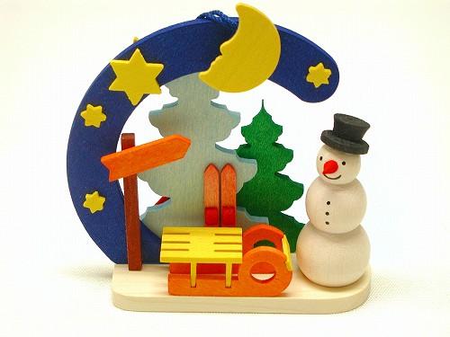 クリスマスオーナメント グラウプナー社(Graupner) オーナメント 雪だるま・そり