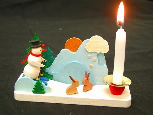 クリスマスキャンドルスタンド グラウプナー社(Graupner) キャンドルスタンド・雪だるま