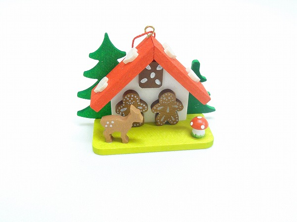 クリスマスオーナメント オーナメント シカとジンジャークッキーのお家