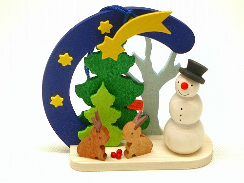 クリスマスオーナメント グラウプナー社(Graupner) オーナメント 雪だるま・うさぎ