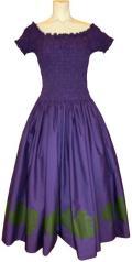 SD-SV  袖付きシャーリングドレス(バイオレット)