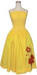 SD-Y  HANAALOHA オリジナルシャーリングドレス(黄色)
