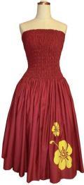 SD-W  HANAALOHA オリジナルシャーリングドレス(ワインレッド)