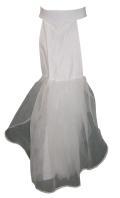BF003  ドレスのラインを美しく! ロングドレス必需品。  後ろのみペチコート