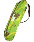 set-024-paucase  パウケース  グリーン地に小さなホヌ、プルメリア、モンステラ模様が人気のパウケース!!