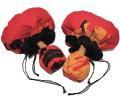 UC-0166 ウリウリカバー 赤地に黒の裏地。山吹色、オレンジ、黒のモンステラの葉模様がすてきなウリウリケース!!