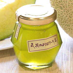 宝石型 静岡県産マスクメロンジャム【無着色】※持ち運びの時間くらいは常温で大丈夫です