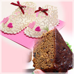 ベビーシューズBOXシュガークラフト&フルーツケーキ【出産祝い 敬老の日 母の日】