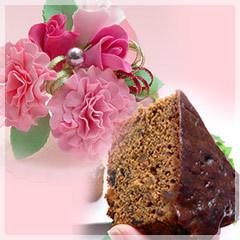 【母の日】カーネーションシュガークラフト&フルーツケーキ