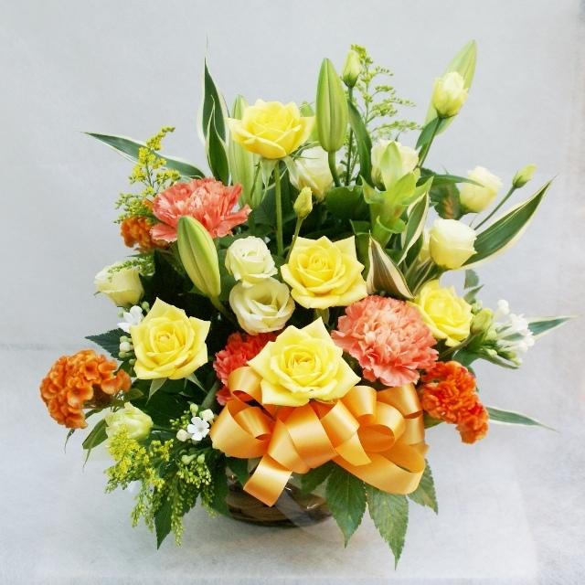 【アレンジメント】黄色オレンジ系 5000円