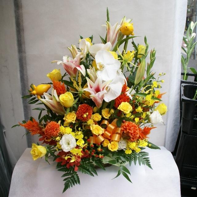 【アレンジメント】黄・オレンジ系