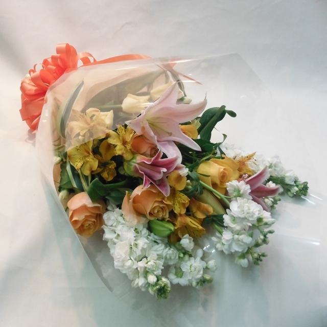 【花束:スタンダード】黄色オレンジ系