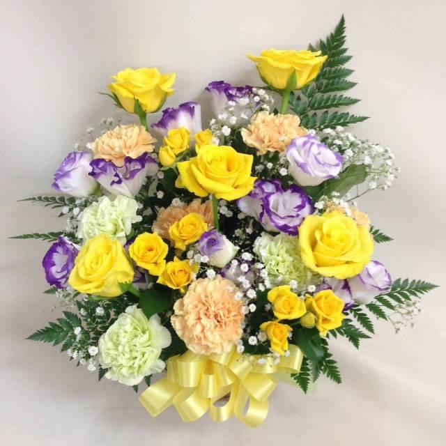 【父の日】黄色のバラのアレンジメント 【6月17日お届け★本州限定】
