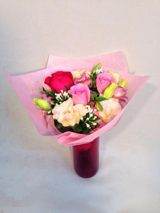 【いい夫婦の日フェア2018】赤い花瓶のブーケ(花瓶付) [本州限定]