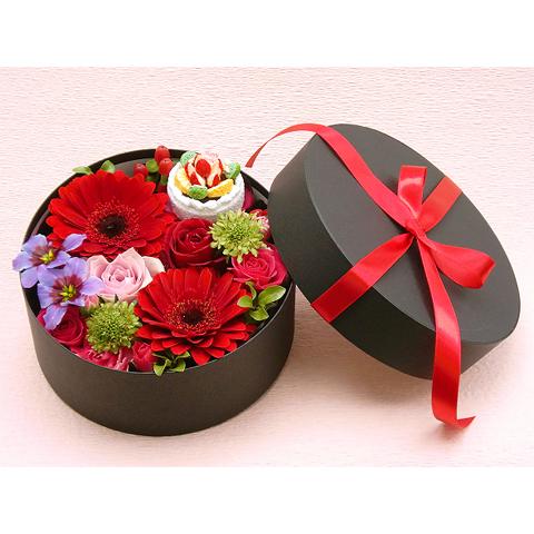EA-020-02R フラワーボックス flower box ケーキ(アレンジフラワー)