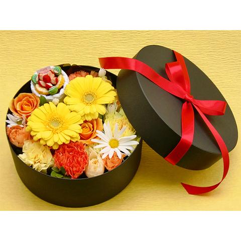 EA-021-02Y フラワーボックス flower box ケーキ(アレンジフラワー)