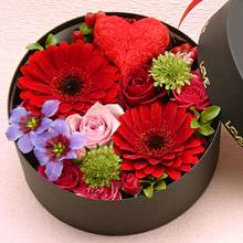 BR-112-01R フラワーボックス flower box ハート(アレンジフラワー)