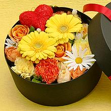 BR-113-01Y フラワーボックス flower box ハート(アレンジフラワー)