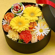 BR-113-02Y フラワーボックス flower box ケーキ(アレンジフラワー)