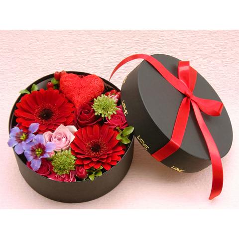 EA-020-01R フラワーボックス flower box ハート(アレンジフラワー)