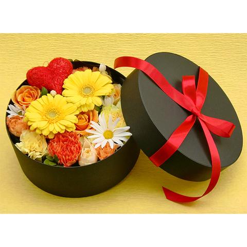 EA-021-01Y フラワーボックス flower box ハート(アレンジフラワー)