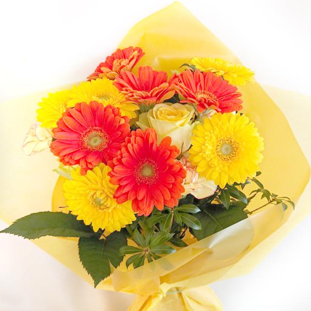 ES-013 ガーベラ(黄色)花束