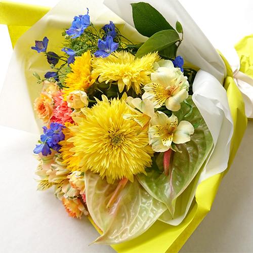 MT-03 7月の花「ヒマワリ」花束