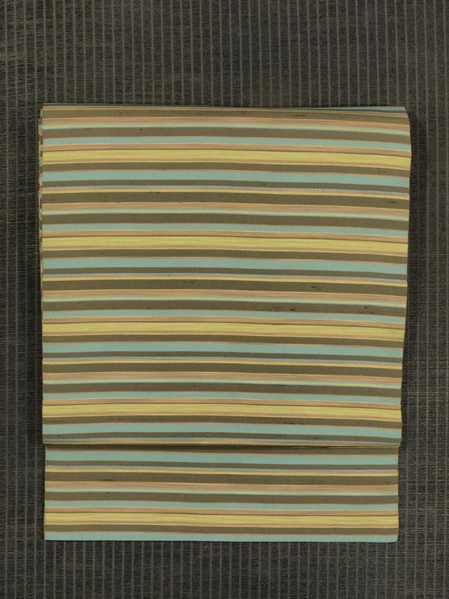 縞文様 織り 名古屋帯