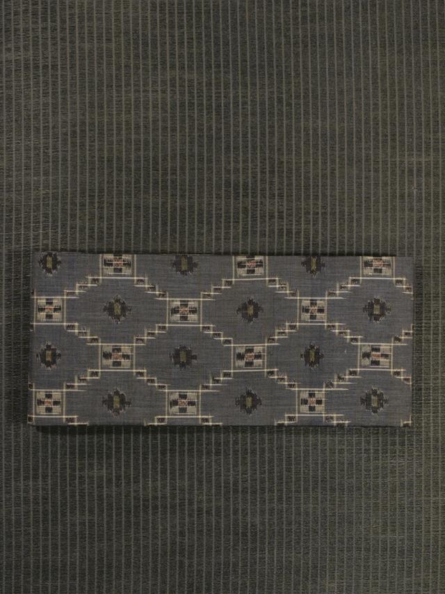 唐花蜀江錦文様 絣織り 紬 半巾帯