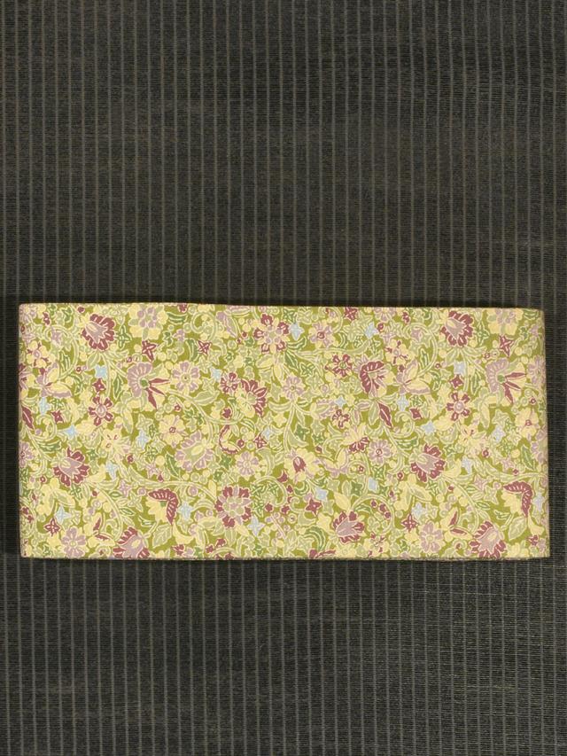 花蝶文様 型染め 半巾帯