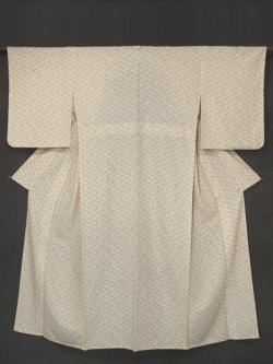 扇襷(おうぎたすき)文様 型染め 小紋 単衣