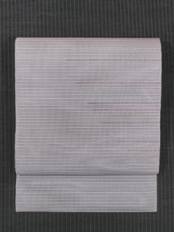 縞文様 絽綴れ 八寸名古屋帯
