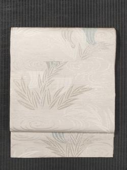 川島織物製 波に帆掛け船文様 唐織り 袋帯