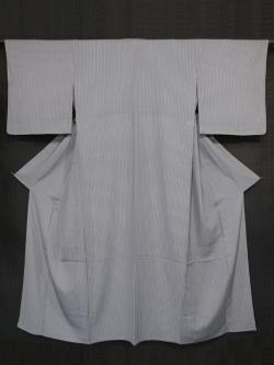 縦縞文様 型染め 小紋 単衣