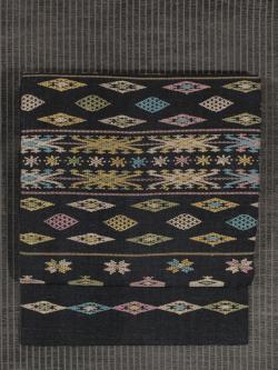 フローレス島 手織り木綿 浮織り 名古屋帯