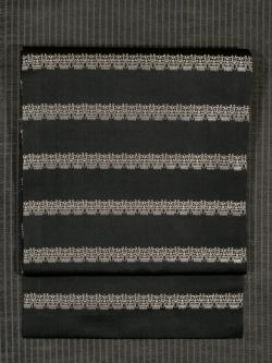 龍村美術織物製 獅噛文長斑錦 (しかみもんちょうはんきん)織り 額縁比翼仕立て帯