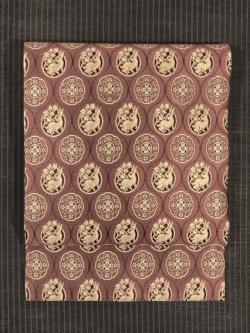 立涌に花兎文様 織り 名古屋帯