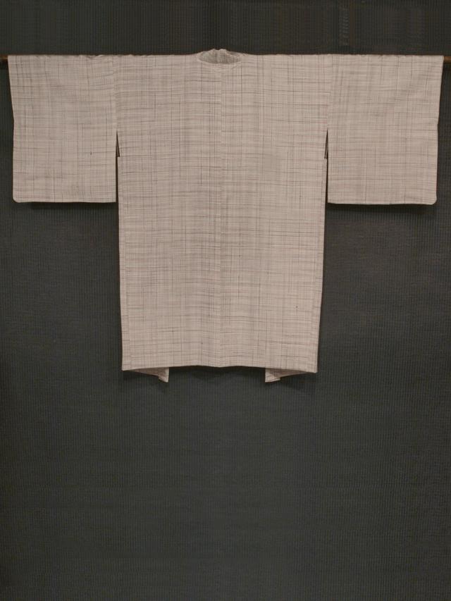 縞文様 信州紬 羽織 袷