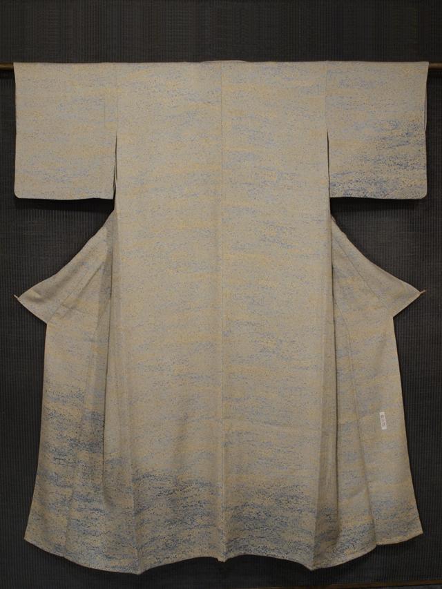 加藤唐九郎の陶彩染 小紋(色無地) 単衣