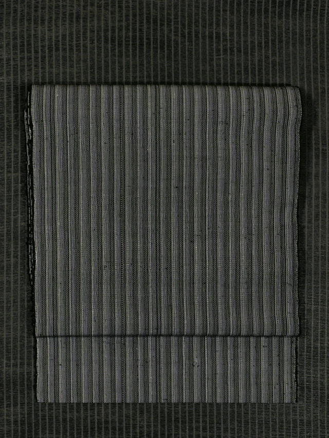 赤城駒紬 縞文様 八寸名古屋帯