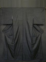 憲法色(けんぽういろ)地 柿渋染 華織紬 袷(証紙付き)