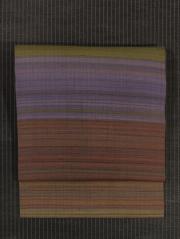 段縞文様 手織り真綿紬 名古屋帯