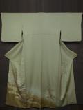 観世水に松の絵図 手描き友禅 留袖 袷